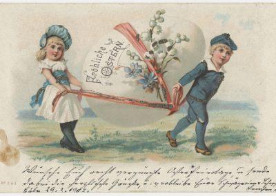 Oster-Postkarte, 1902, Foto: MSPT