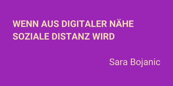 Wenn aus digitaler Nähe soziale Distanz wird