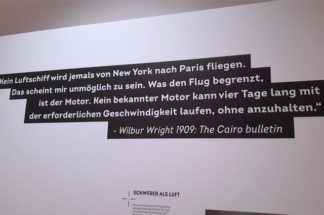 Back to Future: Zitat von Wilbur Wright.