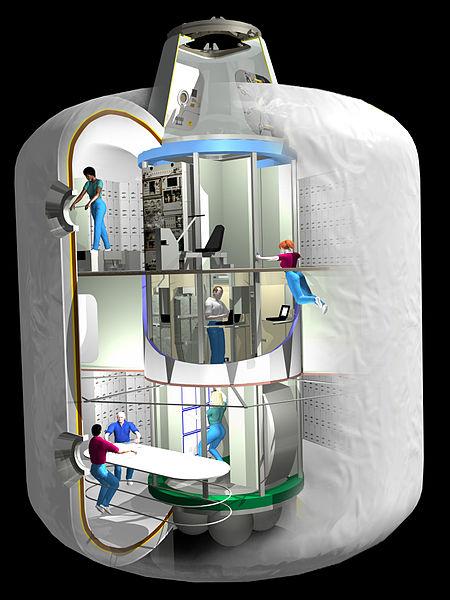 Modell der aufblasbaren Raumstation als Wohnmodul. Foto: NASA/Wikimedia