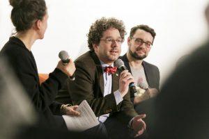 Jörn Müller-Quade diskutiert. Foto: MSPT | Stefanie Kösling